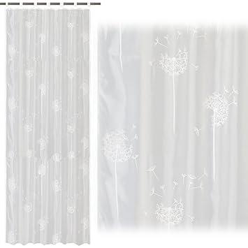 Gardinen Aufhängung jemidi schal mit schlaufen und gardinenband pusteblume 140cm x