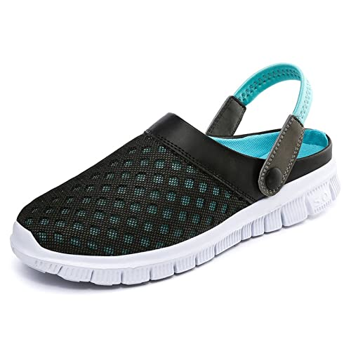 Mens Womens Mesh Water Shoes Quick Drying Athletic Lightweight Walking Shoes Clogs Mules