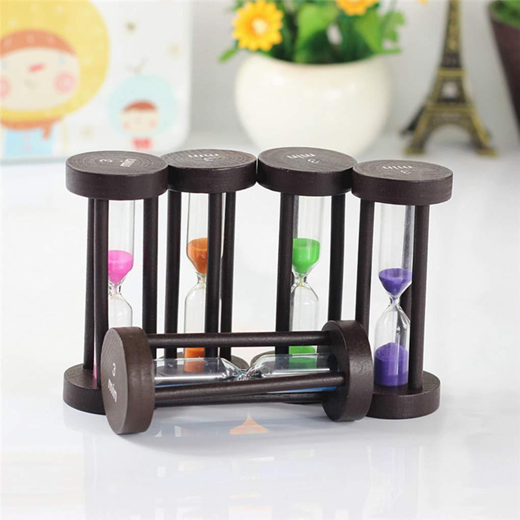Zerama Bois Hourglass Sable Horloge 3 Minutes Hourglass Sandglass Enfants Brosse /à Dents Temps Compteurs timers Enfants Cadeaux D/écoration de Maison