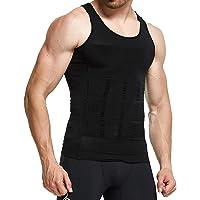 STTLZMC Men's Body Shaper Vest Compression Tank Top Tummy Slimming Undershirt for Weight Loss