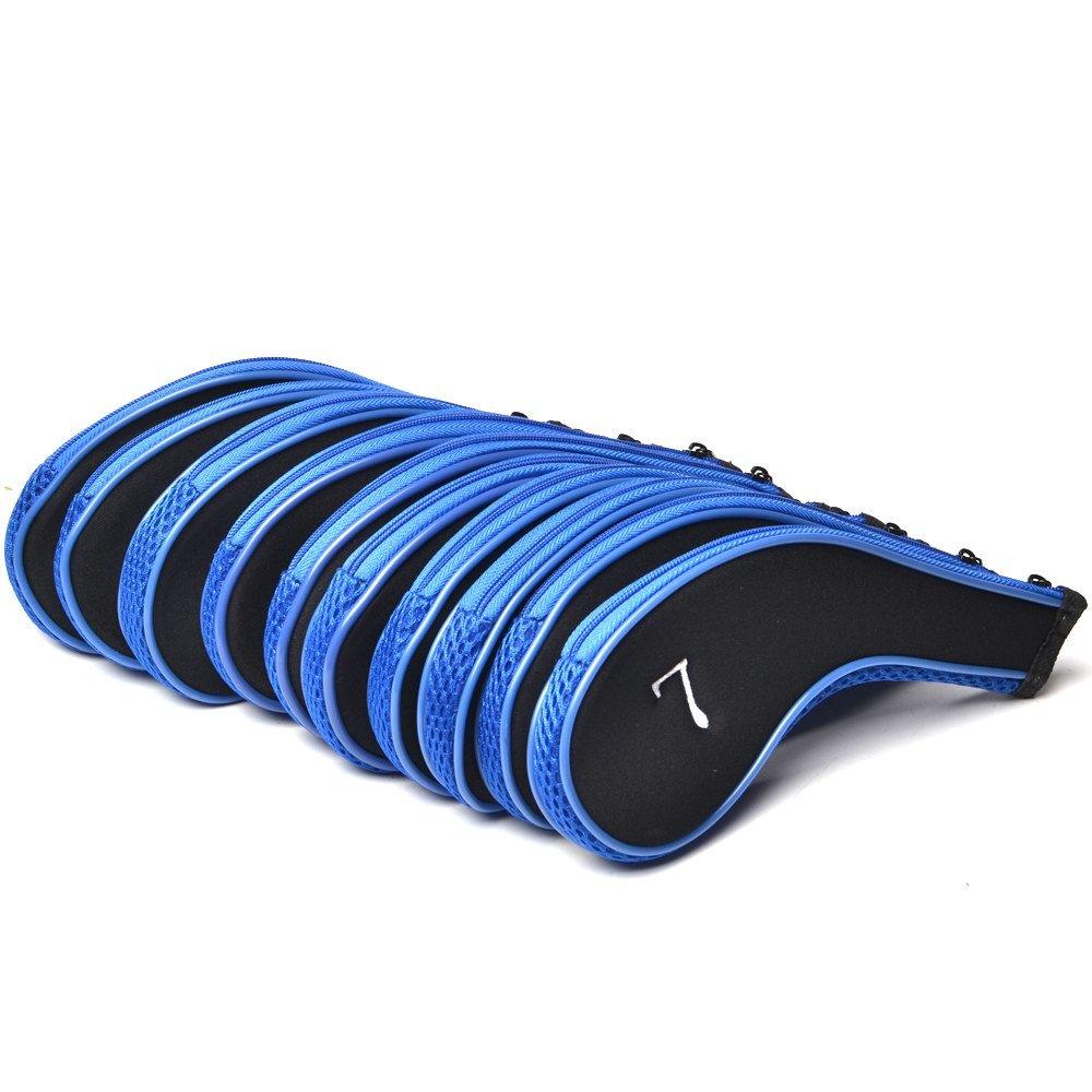 【超ポイント祭?期間限定】 Coolskyネオプレンジッパーゴルフクラブアイアンカバー B01LSJ5BLY – セットof 10 B01LSJ5BLY B-Blue セットof & B-Blue Black B-Blue & Black, リネン ワンピース linen onepiece:48a190d0 --- arianechie.dominiotemporario.com