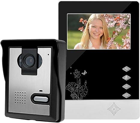 Opinión sobre LIBO Inteligente Casa Videoportero Interfono 4.3inch Visión Nocturna Infrarroja 25 Tonos de llamada IP54 Impermeable Para el Sistema de Entrada de Puerta