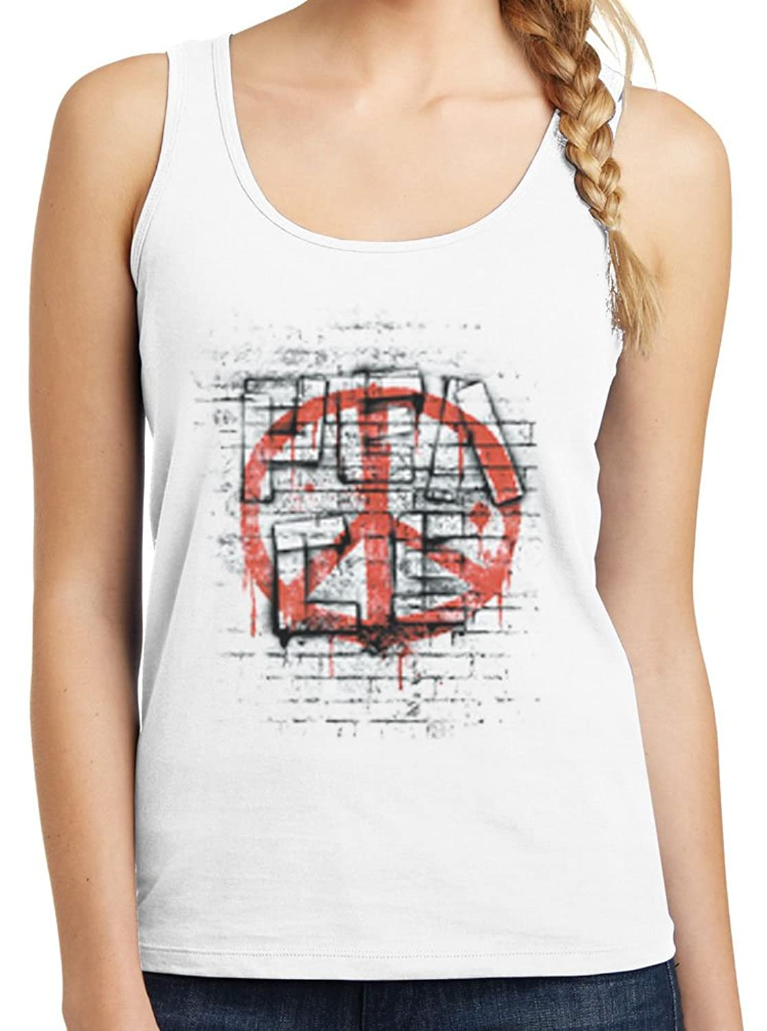 Womens Peace Out Graphic Tank Top