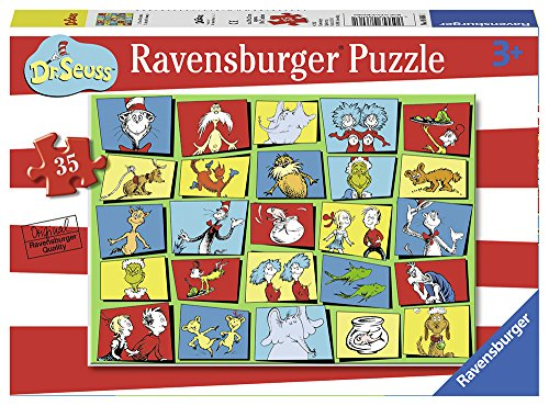 Ravensburger - Dr. Seuss Characters 35 Piece Jigsaw Puzzle for Kids – Every Piece is Unique, Pieces Fit Together Perfectly