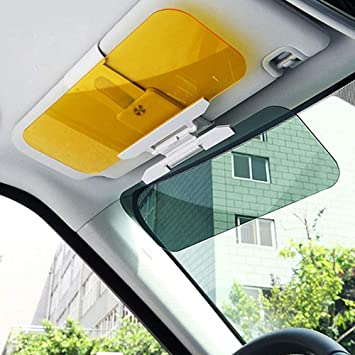 Car Sun Visor Extender Anti Glare Blocker HD Day Night Driving Visor Glare Sun Shield Tinted Lens Blocker Car Extender Visor Sunscreen Extendable Visor for Car Sun Windshield Glare Blocking Visor