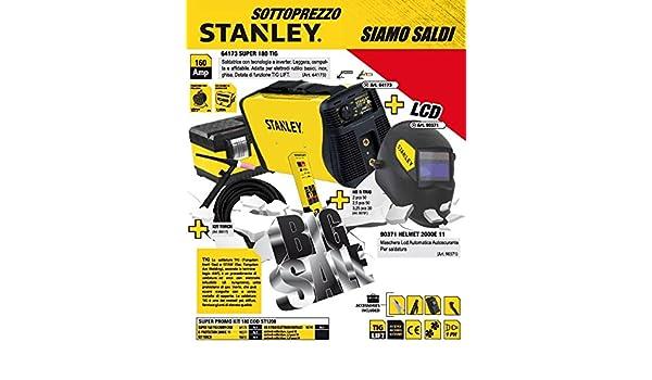 Kit soldadura eléctrica Inversor Stanley 160 A Maletín Máscara y linterna TIG: Amazon.es: Bricolaje y herramientas