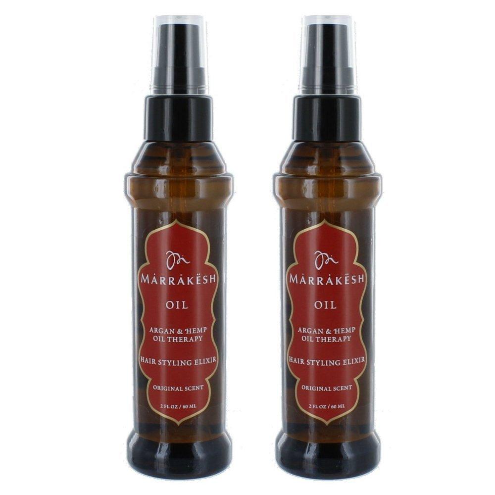 Earthly Body Marrakesh Oil Hair Styling Elixir with Hemp & Argan Oils Hair And Scalp Treatments (Oil 2 Oz - Set of 2) 7995900502