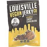Louisville Vegan Jerky - Smokey Carolina BBQ, Vegetarian & Vegan Friendly Jerky, 9 Grams of Non-GMO Soy Protein, Gluten-Free Ingredients (3 oz.)