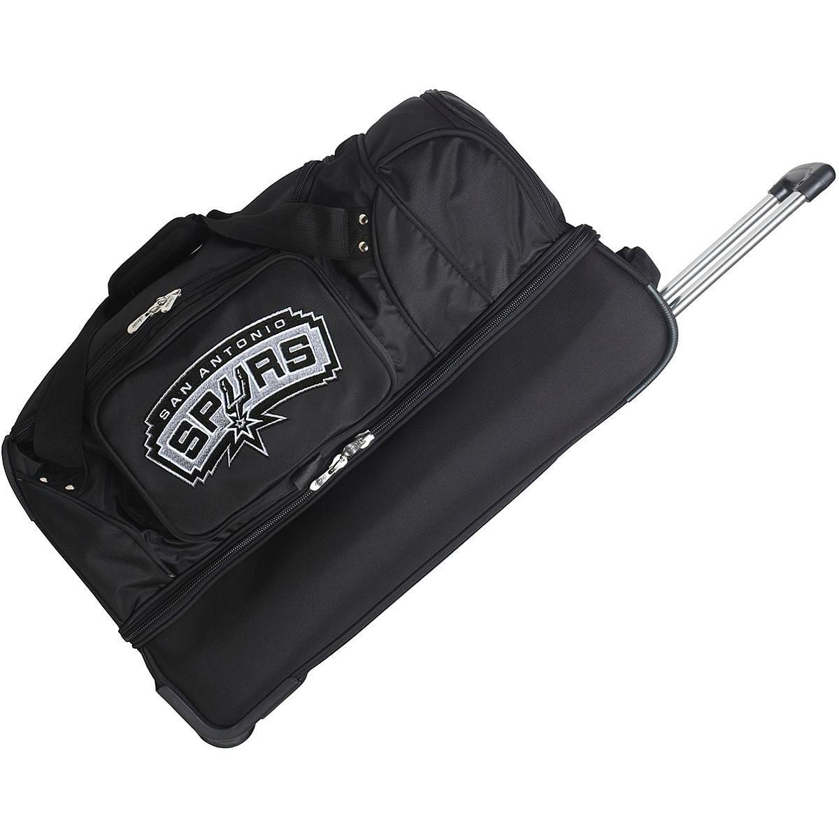 DENCO SAN ANTONIO SPURS 27'' 2-WHEELED DROP BOTTOM DUFFEL by Denco Luggage 1048749