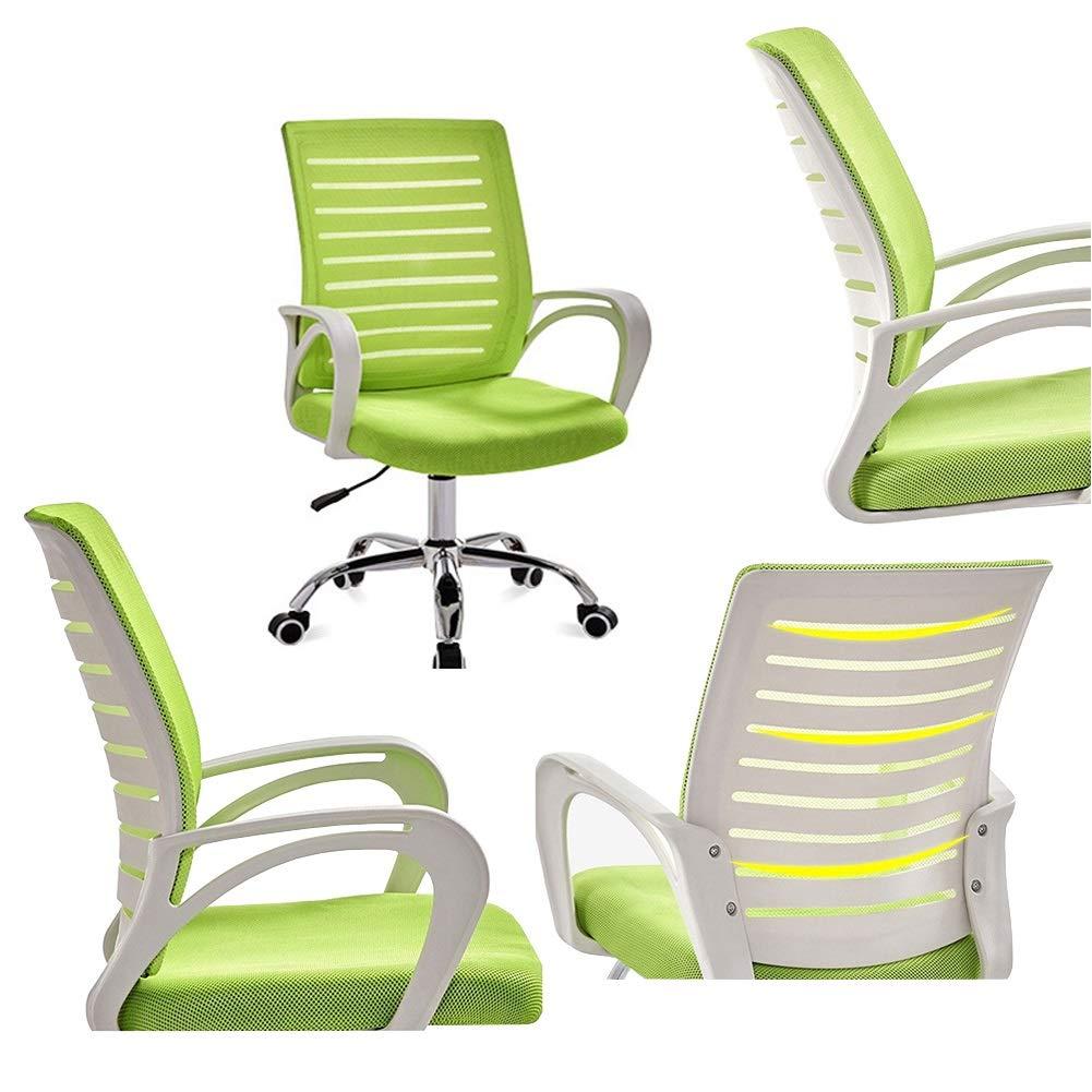 XZYZ stol nät svängbar kontor hem dator armstöd stoppat säte ergonomisk justerbar höjd lutningsspänning (färg: blå) Röd