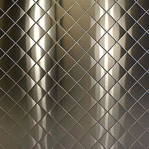 Online Metal Supply 304 Quilted Brushed Stainless Steel Sheet (22 ga.) .029