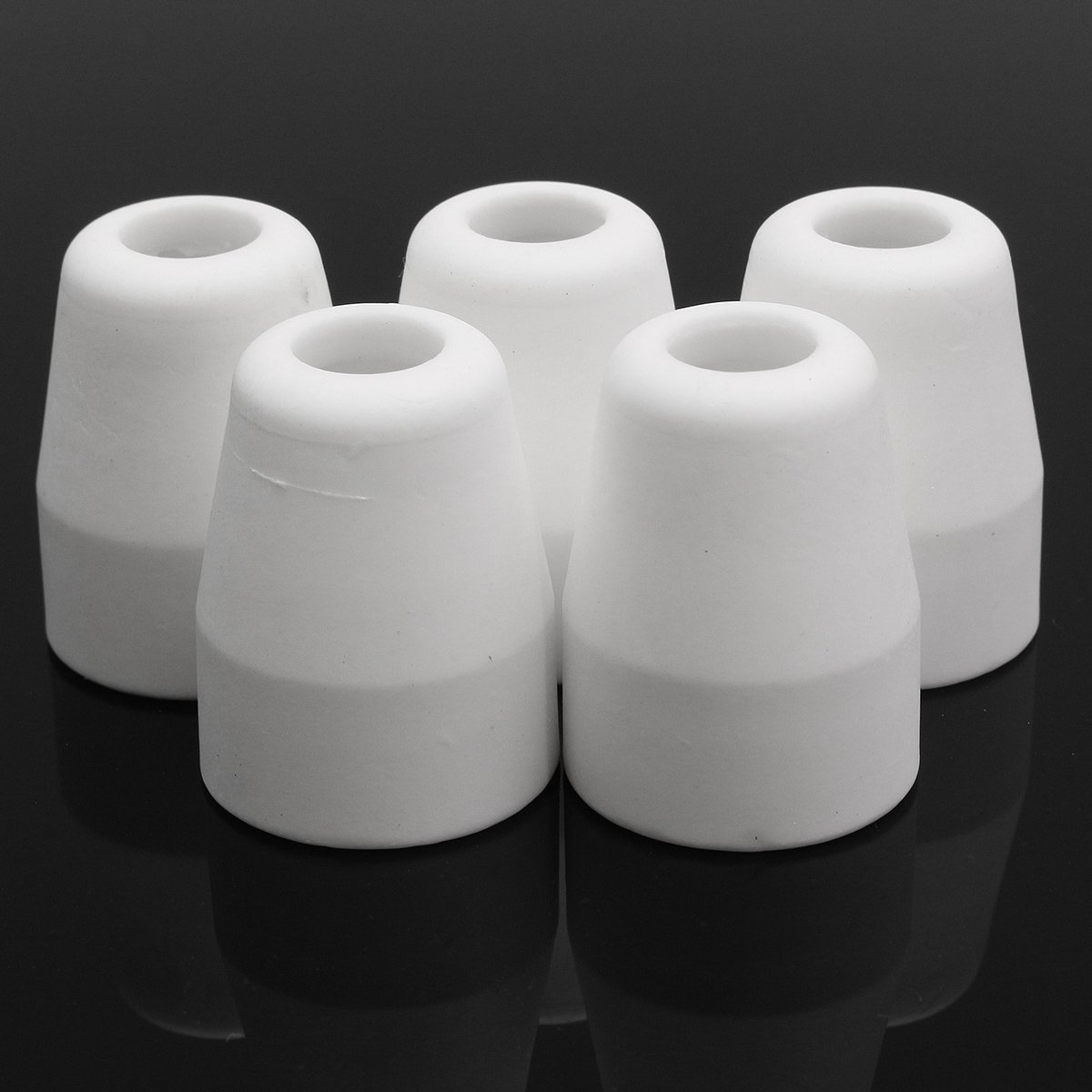 Pukido 5Pcs Plasma Cutter Consumable Shield Cups for LG-40 PT-31 Cutting Torch CUT40 CUT50