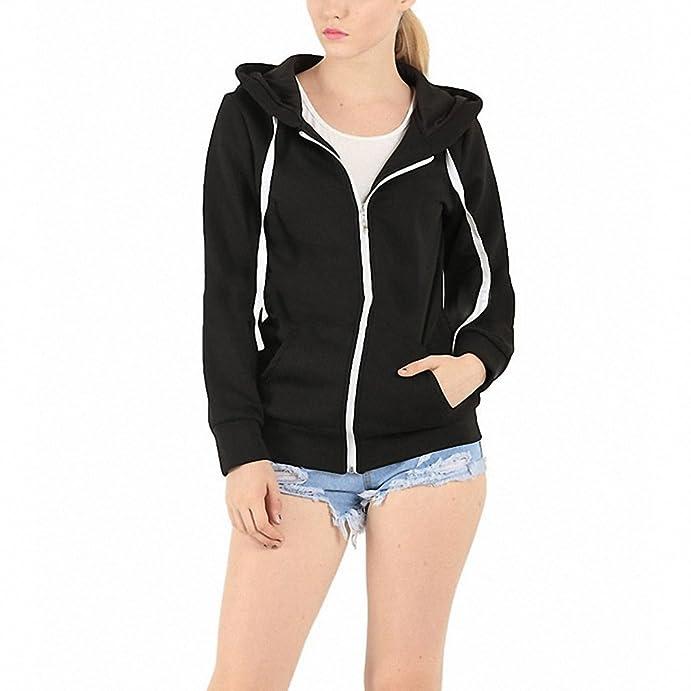 Long sleeve Hoodies Women Men Unisex Plain Zip Up Hooded Sweatshirt Zipper Jacket Overcoat Outerwear Hoodies LJ4887E at Amazon Womens Clothing store:
