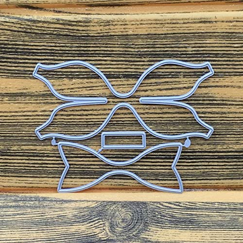 Metal Hair Bow Cutting Dies-Hair Bow Die Cut-Die Cuts for Card Making-Bowknot Bows Cutting Dies Stencil Metal Mould-Cutting Dies Cut Metal Scrapbooking-Die Cuts for Crafts Hairbow Making R66