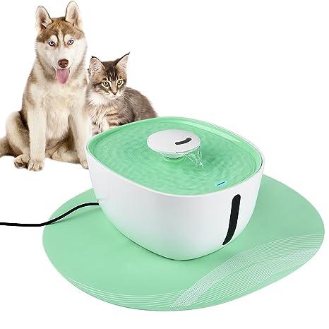 Petacc Fuente de agua para mascotas Fuente de agua para gatos ultra silenciosa Dispensador de agua