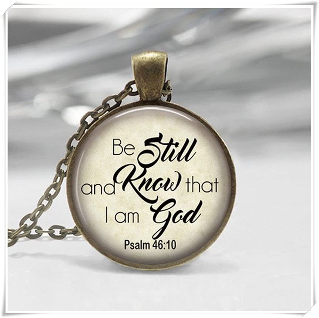 Be Still Know Bible Verse, Glass Photo Key Chain,Religious Jewelry,Christian Gift, Bible Class,Ladies,Retreat Psalm wish dandelion
