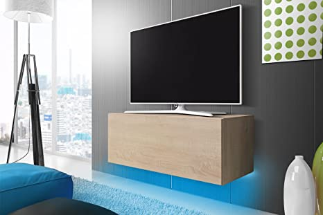 Mobile Tv Moderno Led : Lana mobile tv con led moderno da appendere cm effetto