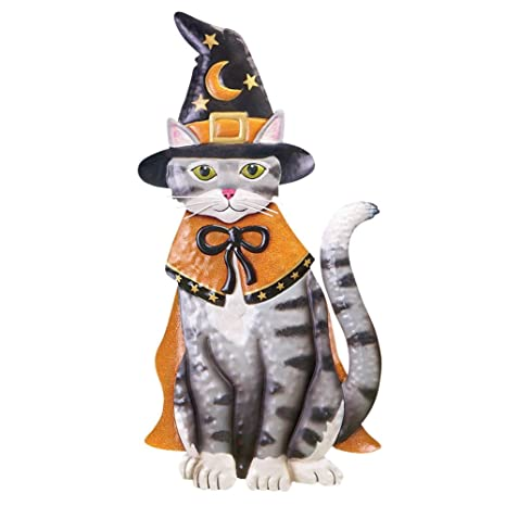 LED Lighted Halloween Animal Yard Stakes, Cat