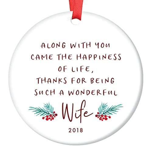 Amazoncom Gift For Wife Christmas Ornament 2018 For My Wife Poem