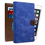 Kroo Universal Large Smartphone Folio Case with Rear Camera Slide for Phone Screen Size up to 6.3' - Blue