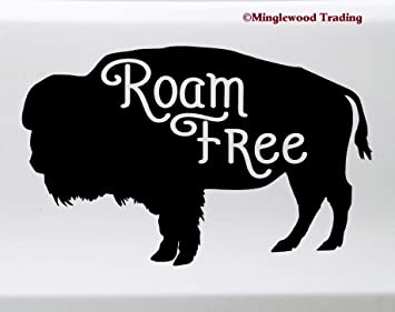 Wyoming Buffalo Decal Sticker5.5-Inches By 4.4-Inches