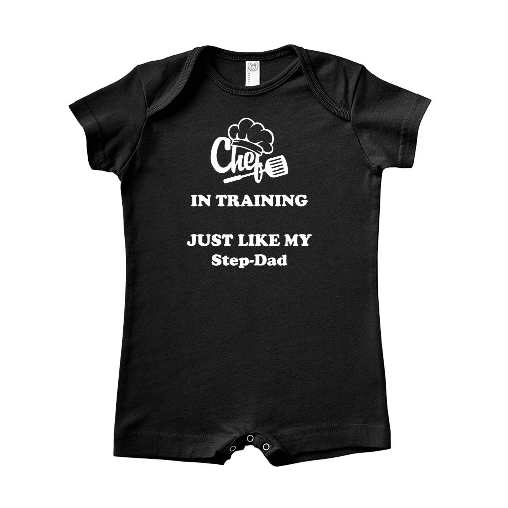 Chef in Training Just Like My Step-Dad Baby Romper