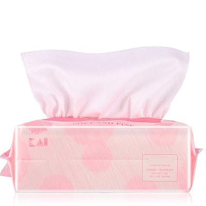 Desmaquillador suave Tejido de algodón facial natural Toalla suave de algodón Toalla de algodón absorbente grande