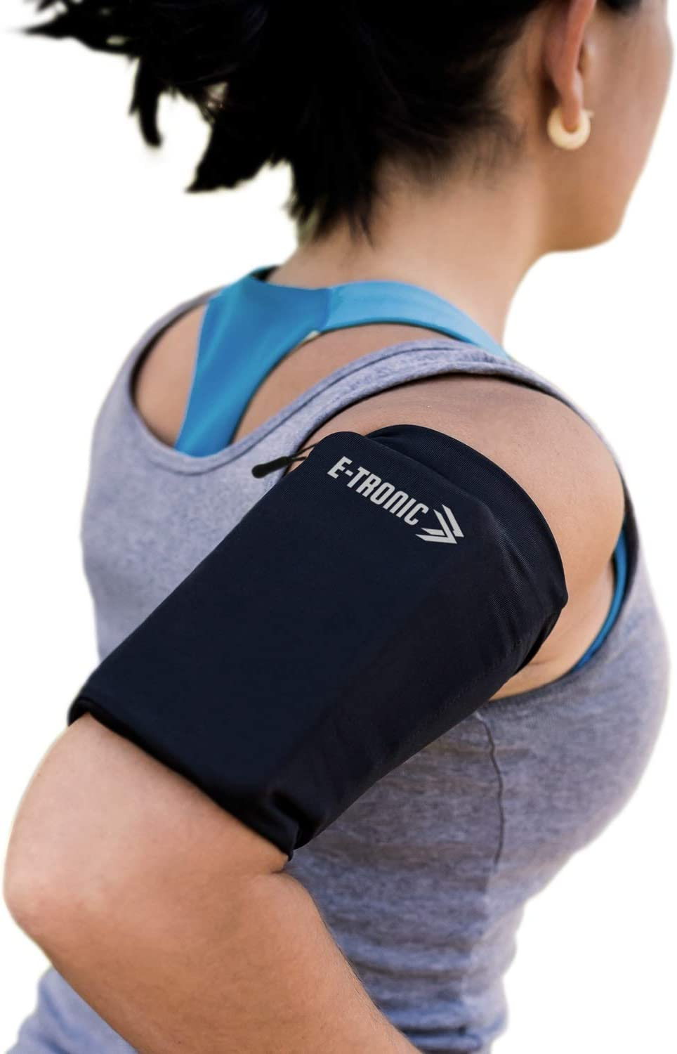 Phone Armband Sleeve: Running Sports Arm Band Strap Holder Pouch Case for Exercise Workout Compatible with iPhone 5S SE 6 6S 7 8 X Plus iPod Android Samsung Galaxy S5 S6 S7 S11 Black XL