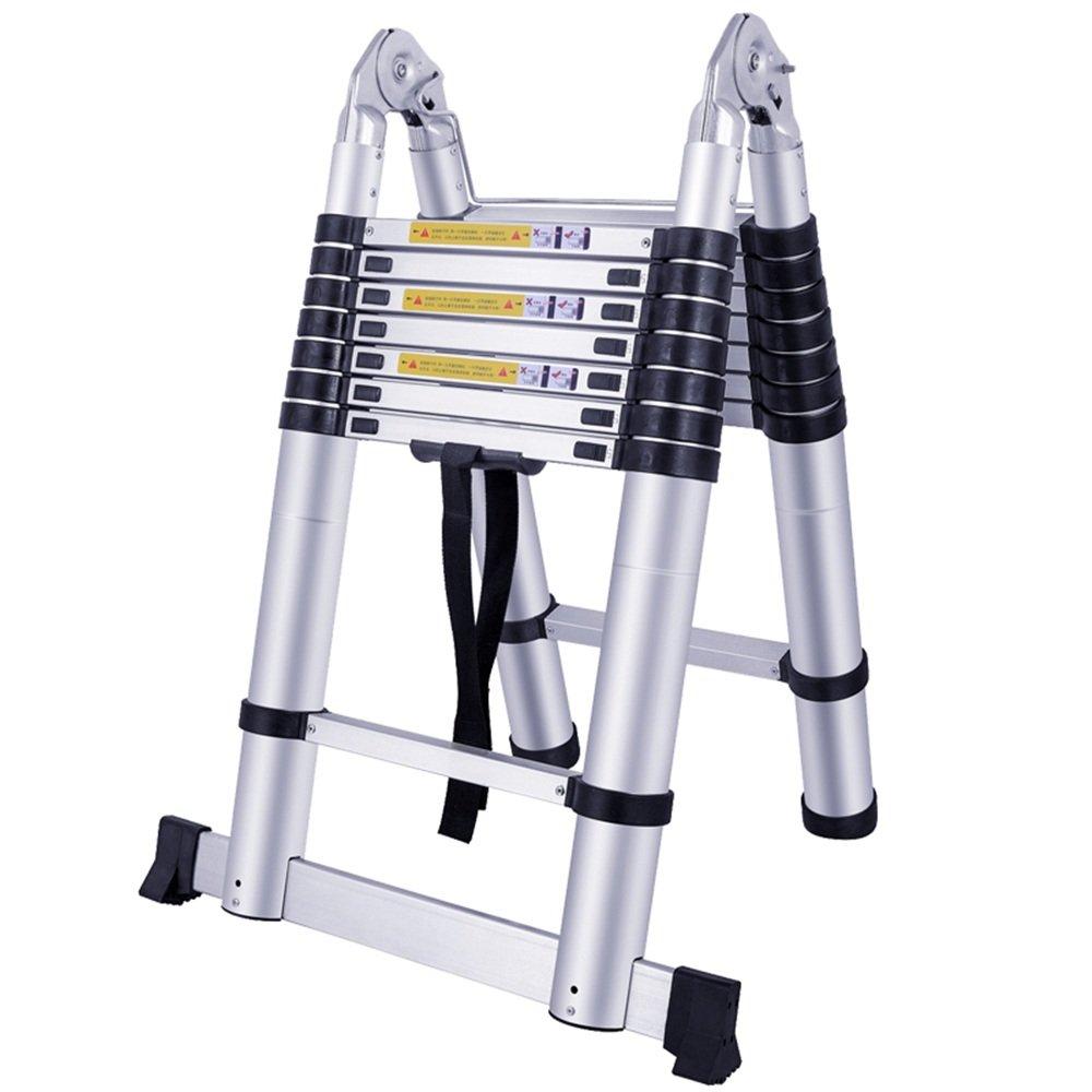 SAILUN® Teleskopleiter Ausziehleiter aus hochwertigem Alu Teleskop-Design Mehrzweckleiter, 15 Sprossen - 94cm bis 4,40m Anlegeleiter, 150 kg Belastbarkeit (4,4m) Generic