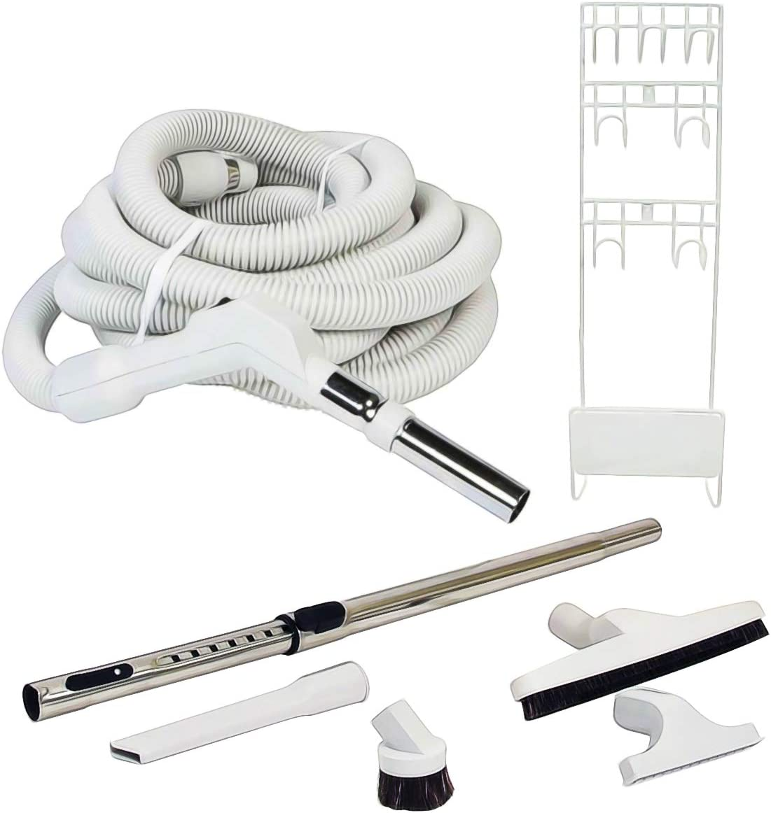 ZVac Universal Central Vacuum Accessory Kit for Central Vacuum Systems with 30 ft On/Off Button Low-Voltage Standard Hose Compatible with Beam, Nutone, Electrolux, Hayden, Centec, Kenmore & Vacumaid