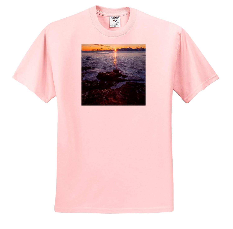 3dRose Mike Swindle Photography ts/_317142 Landscapes Adult T-Shirt XL Sunrise on The Coast