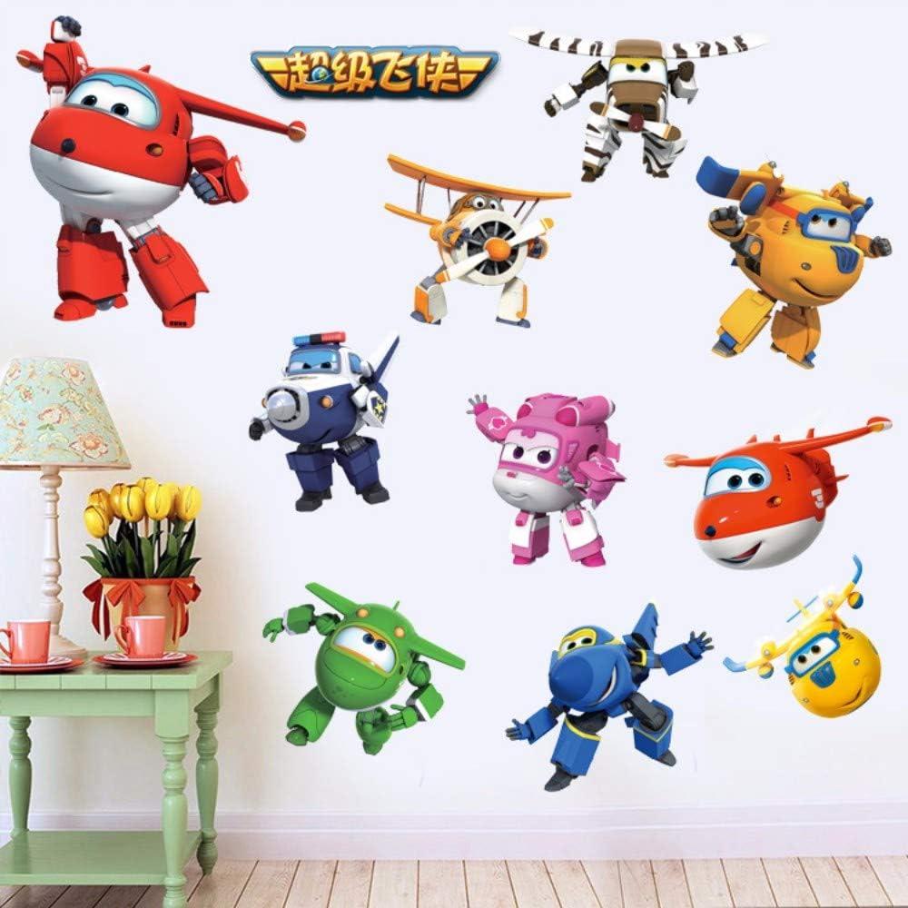 Super Wings Wandtattoo 3D Wandaufkleber Flügel Kinderzimmer Sticker Cars Jungen