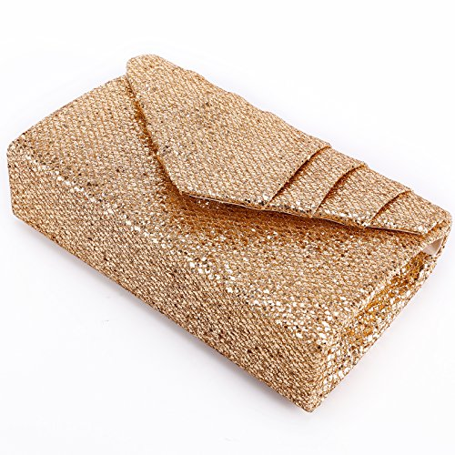 Bag Bridal Wedding Bling Clutch Anladia Evening Shoulder Purse Envelope Women's Ladies Handbag Party Bag Sparkly Champagne qw7xn8BPw