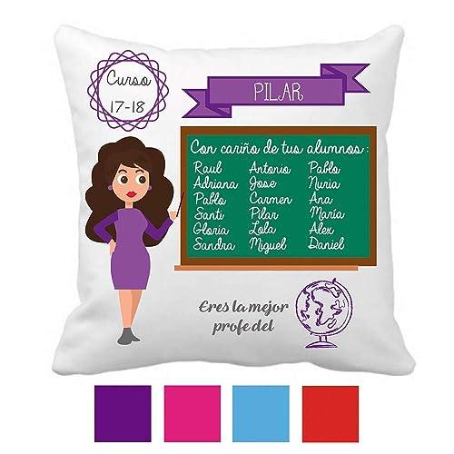 Kembilove Cojín Decorativo Personalizado para Profesora y Maestra – Cojines Decorativos Personalizados con Bonitos Mensajes para Maestros – Ultra ...