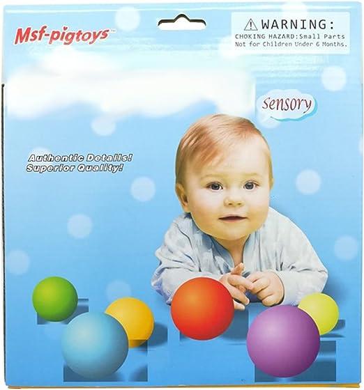 Eleganantamazing - Juego de 6 Bolas de Juguete para bebé, Juguete ...