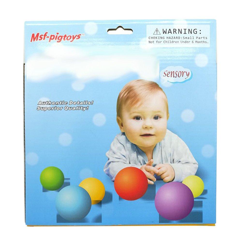 Faironly - Juego de 6 Pelotas educativas para bebés con Pelota de ...