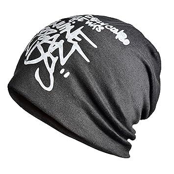 ... Para Hombre Mujer Hip-Hop Gorros de Algodón Suave Cálido Para Invierno  Primavera Hat Ocio Color Sólido - Negro  Amazon.es  Deportes y aire libre 743126380d6