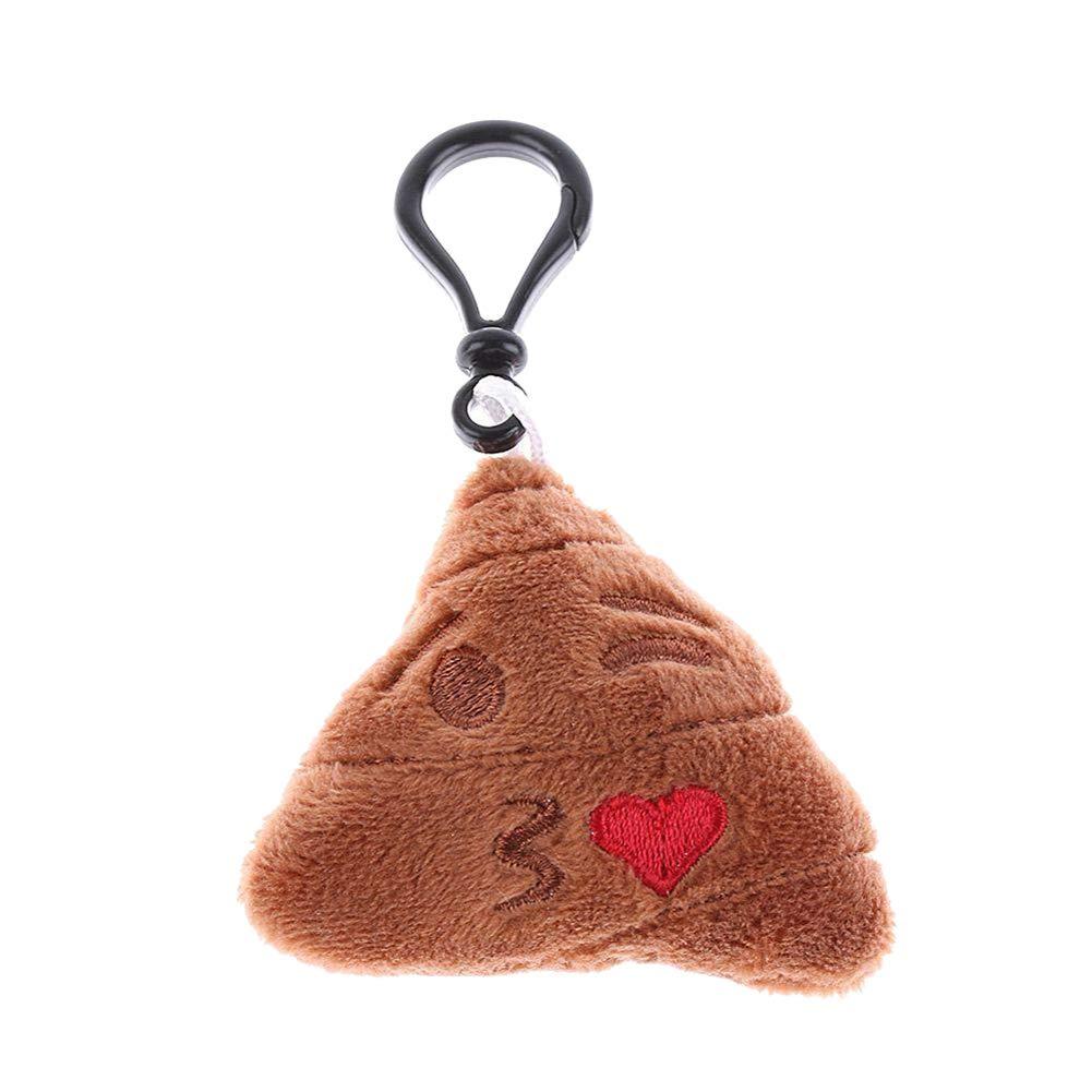 Ss-Lqlhy Cartoon Key Ring Holder Poo Emoji Emotion Soft Pendant Keychain Phone Bag Decor 1# Regular