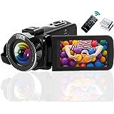 Videokamera 2.7K 42 MP videokamera 18X Zoom videokamera Full HD med vridbar 3,0-tums skärm videokamera för YouTube…
