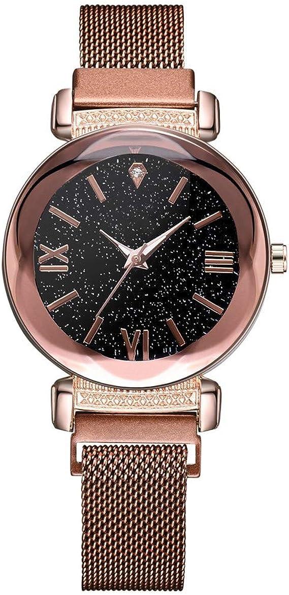 Reloj Mujer Starry Sky Mosaic Diamond Quartz Belt Magnetic Buckle ...