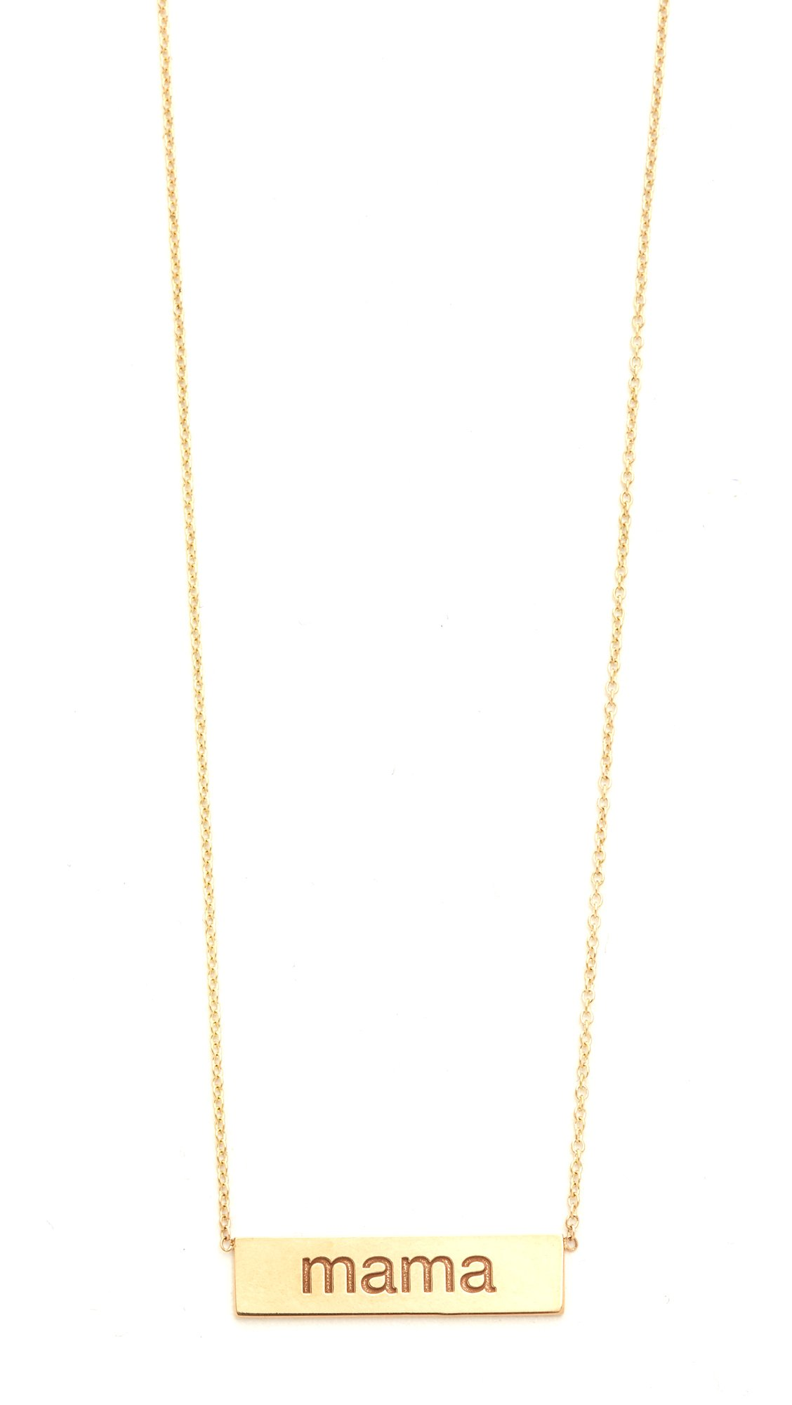 Zoe Chicco Women's 14k Gold Mama Necklace, Gold, One Size
