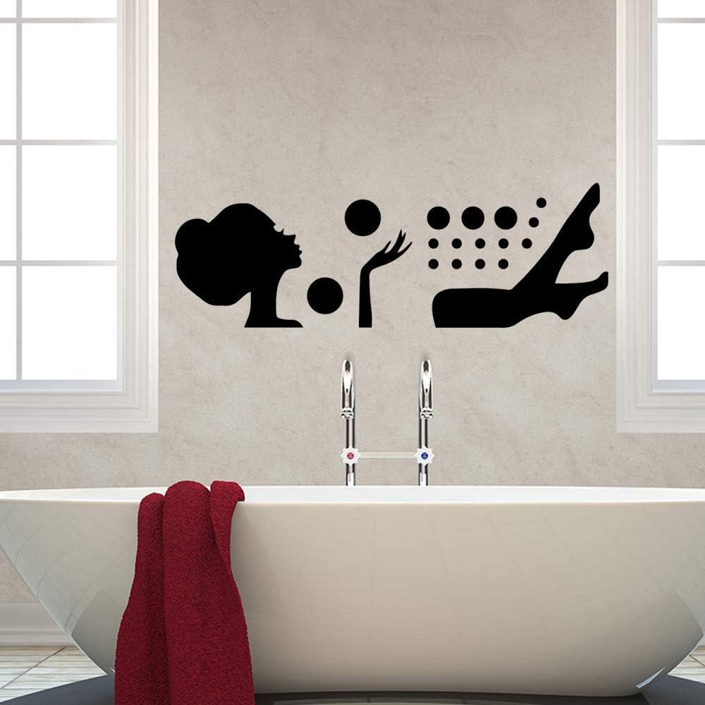 DIY Bath Family Wall Stickers Mural Art Decoración para el hogar para Habitaciones de niños Decoración para el hogar para Habitaciones de niños Decoración para el hogar L 43cm X 51cm: Amazon.es: