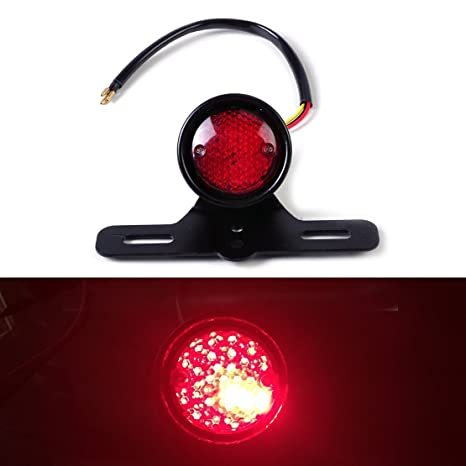 Accessories Universal Red Cross Led Rear Tail Brake License Plate Light For Choppers Quads High Quality