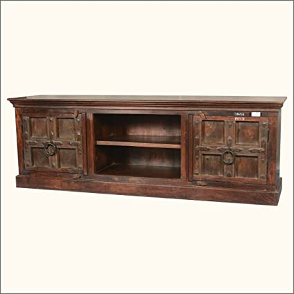 Simply Gothic Mango U0026 Reclaimed Wood Media Cabinet TV Console