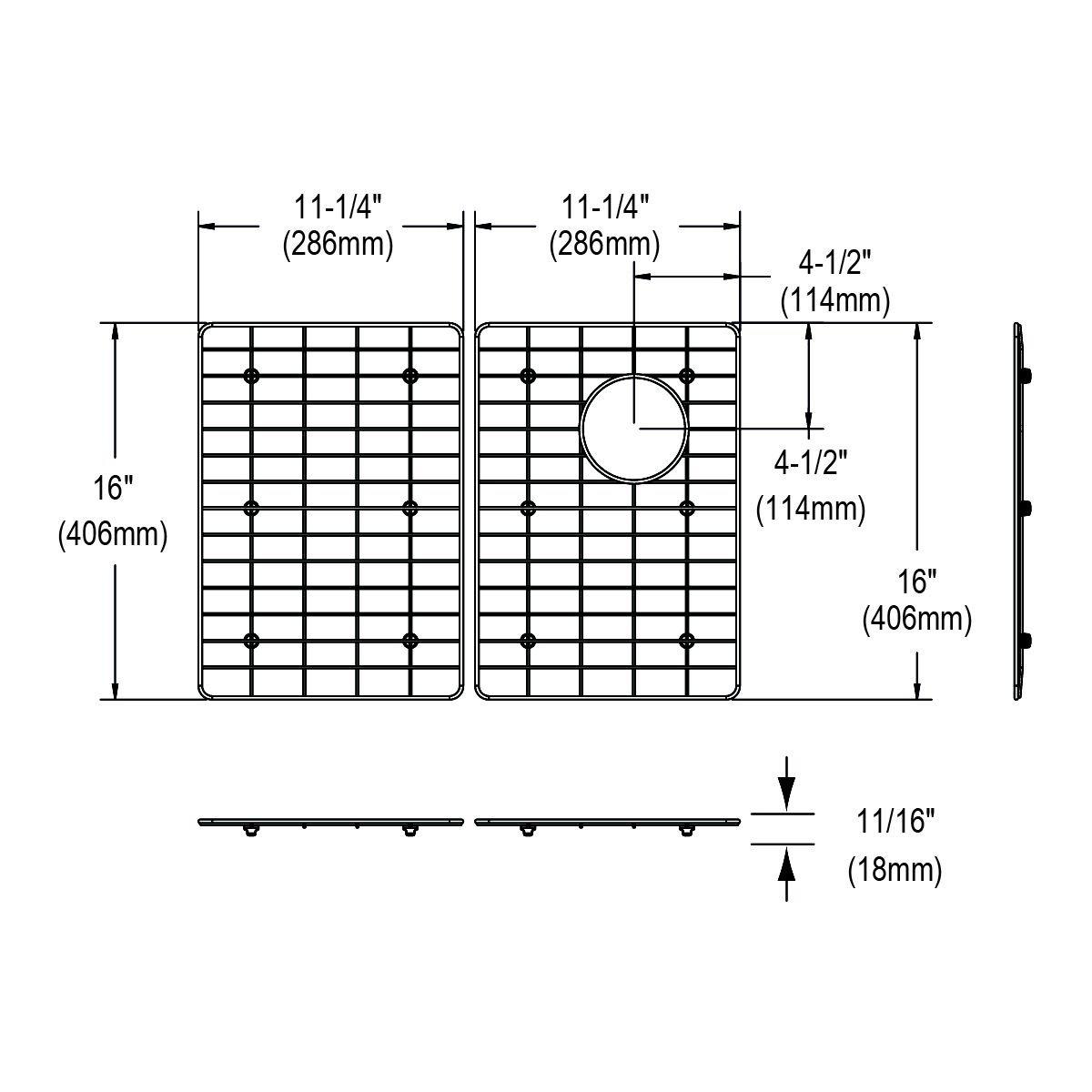 Elkay GFOBG2417RSS Bottom Grid