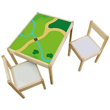 Muebles en adhesivo Juego Wiese - Apto para Ikea Lätt - Mesa ...