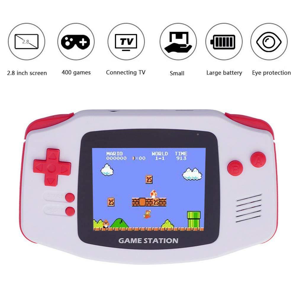 leegoal Console Portatile Console di Gioco Retro Mini USB Ricarica 400/Giochi FC Game Player Classic Console di Gioco per Bambini Friend Purple