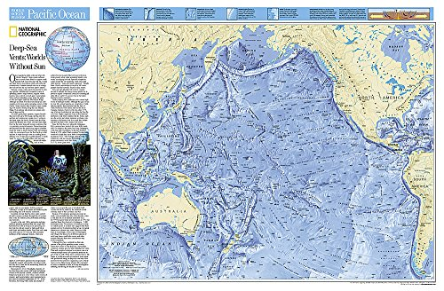 National Geographic: Pacific Ocean Floor Wall Map (31.75 x 20.75 inches) (National Geographic Reference Map)