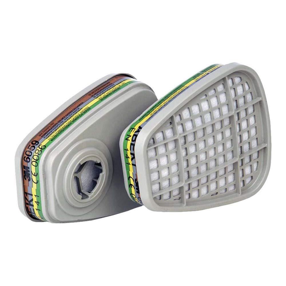 3M 6059 ABEK1 - Filtro para vapores orgánicos, pack con 8 filtros