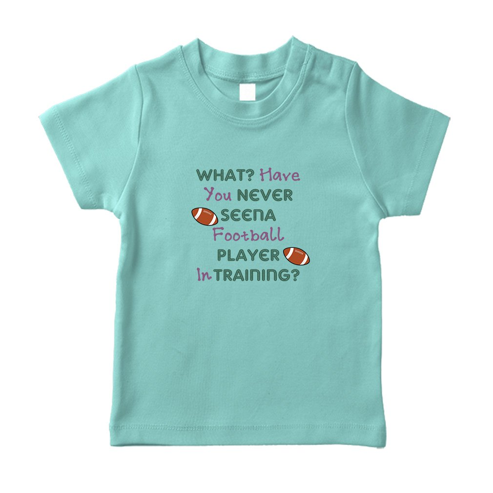 Amazon.com  What  T Have You Never Seen A Football Player in Training   1  Cotton Short Sleeve Crewneck Unisex Toddler T-Shirt Jersey - Chill a9d5e31a7